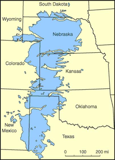 Figure 3. Ogallala Aquifer Map. Source: http://www.naturalnews.com